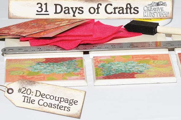 Decorative Decoupage Tile Coasters