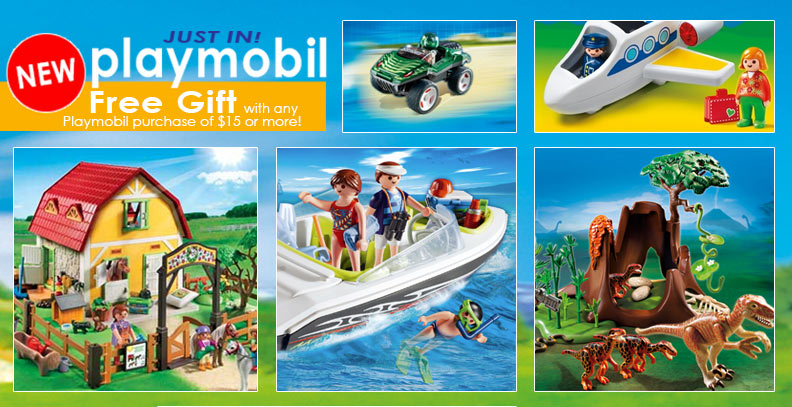 New Playmobil & a FREE Surprise Figure with every Playmobil Transaction!
