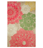Accent Rugs Crochet Floral 4x6