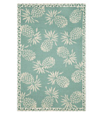 Accent Rugs Pineapple Aqua 4x6
