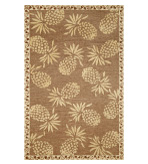 Accent Rugs Pineapple Neutral 4x6