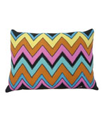 Bargello Pillow Black