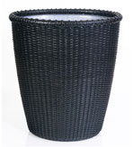 Wicker Bathroom Decor Sets Basket Blk