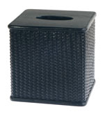 Wicker Bathroom Decor Sets Tissue Box Blk