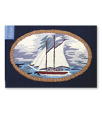 2x3 Sailboat Indoor Outdoor Rug