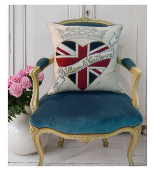 Decorative Accent Pillow Royal Wedding