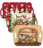 Decorative Holiday Serving Trays