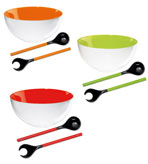 Decorative Salad Bowls and Salad Servers