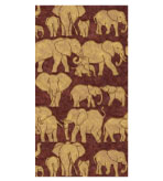 Guest Towels Paper Brown Safari Pattern 30 Count