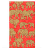 Paper Hand Towels Red Safari 15 Pc