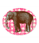 Elephant Decor Platter 12.75� x 10.25�.