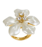 Faux Pearl Ring Flower