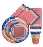 Fourth of July Decor Paper Plates and Napkins