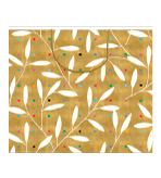 Gift Wrap Bags Gold Leaves 2 Pc