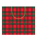 Gift Wrap Bags Royal Plaid 2 Pc