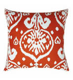 Ikat Pillow Orange Canvas