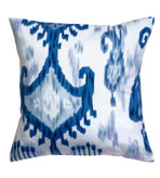 Ikat Pillow Blue & White