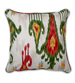 Ikat Pillow Red & Green