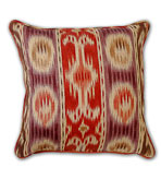 Ikat Pillow Red & Purple