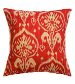 Ikat Pillow Red