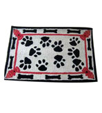 2x3 Dog Paws Indoor Outdoor Rug