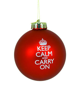 Keep Calm and Carry On Christmas Ornaments