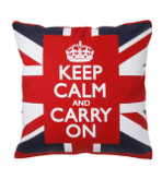 Keep Calm and Carry On Throw Pillows