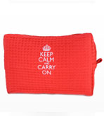 Keep Calm and Carry On Toiletries Bag