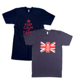Keep Calm and Carry On T-shirt Navy