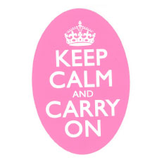 Keep Calm and Carry On Bumperstickers