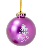Keep Calm Ornament-Purple