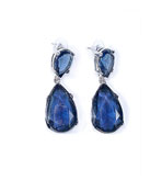 KJL Earrings Clip On Blue