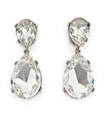 Kenneth Jay Lane Earrings Crystal Clip On