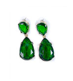 Kenneth Lane Earrings Clip On Green
