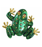 Kenneth Jay Lane Jewelry Brooches Frog Green