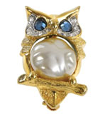 Kenneth Jay Lane Jewelry Brooches Owl