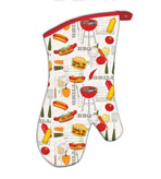 Kitchen Oven Mitts Barbeque Set of 2