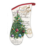 Kitchen Oven Mitts White Christmas Set 2