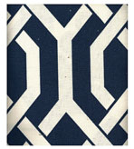 Outdoor Fabrics Geometric Navy