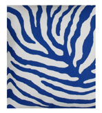 Outdoor Fabrics Zebra Blue