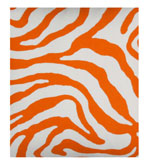 Outdoor Fabrics Zebra Orange