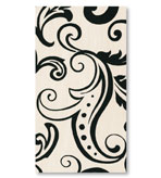 Black and White Party Decorations Paper Hand Towels Filigree