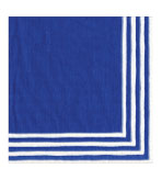 Paper Napkins Dinner Blue Stripe