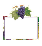 Paper Placecards Arbor Grapes Pak 8