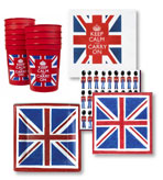 Paper Plates and Napkins Union Jack