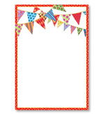 Party Invitations Festive Flag Blank Pack 8