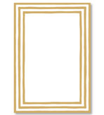 Party Invitations Gold Border Blank Pack 8