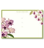 Party Invitations Orchid Show Fill In Pack 8