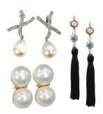 Pearl Earrings by Kenneth Jay Lane