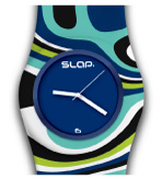 Plastic Watches Swirl Blue
